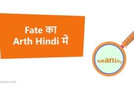 Fate का अर्थ हिन्दी में – Fate Meaning in Hindi