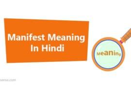 Manifest Meaning In Hindi – Manifest का हिंदी में अर्थ